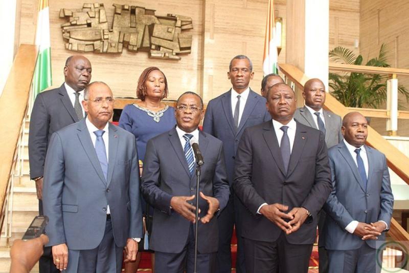 Le président du Fpi après la rencontre avec le Vice-président (DR)