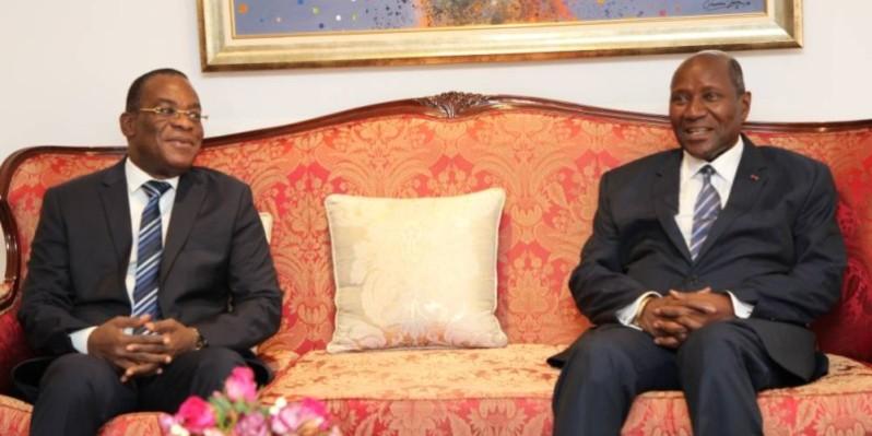 Le vice-Président Kablan Duncan a abordé d'importants sujets jeudi avec Affi N'Guessan. (Joséphine Kouadio)