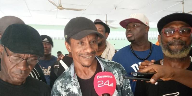 Lelou Appolaus Johnson, face à la presse après son élection dimanche dernier.(DR)