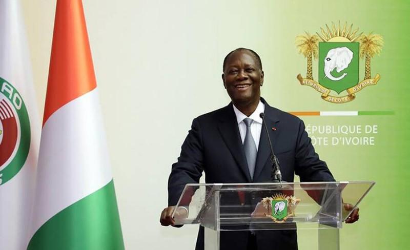 Le Président de la République, Alassane Ouattara faisant le point de ses visites (DR)