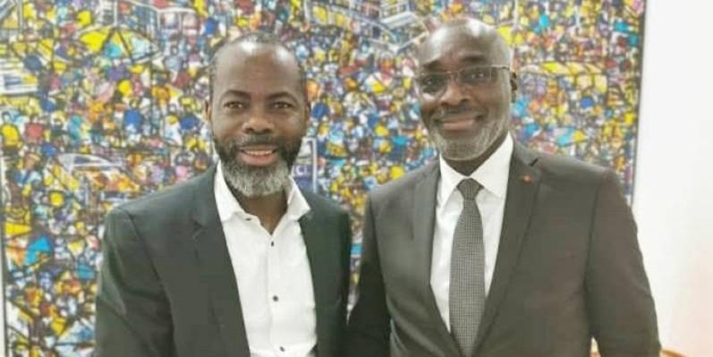 Le président Mahama Coulibaly et le maire de Cocody, Jean-Marc Yacé vont unir leurs forces pour développer la discipline. (DR)