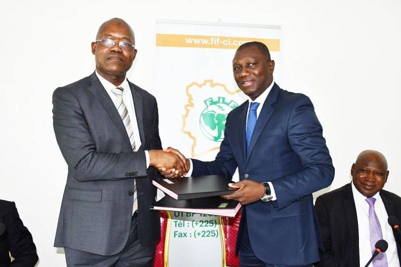 Fausséni Dembélé et Sory Diabaté heureux de renouveler le partenariat entre la Rti et la Fif
