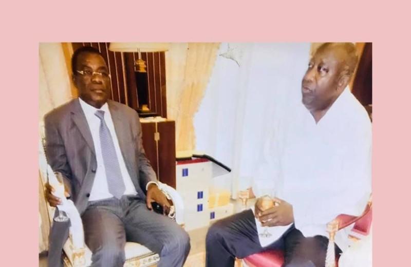 L'ex-premier ministre Pascal Affi N'Guessan et l'ex-Chef de l'Etat, Laurent Gbagbo (DR)