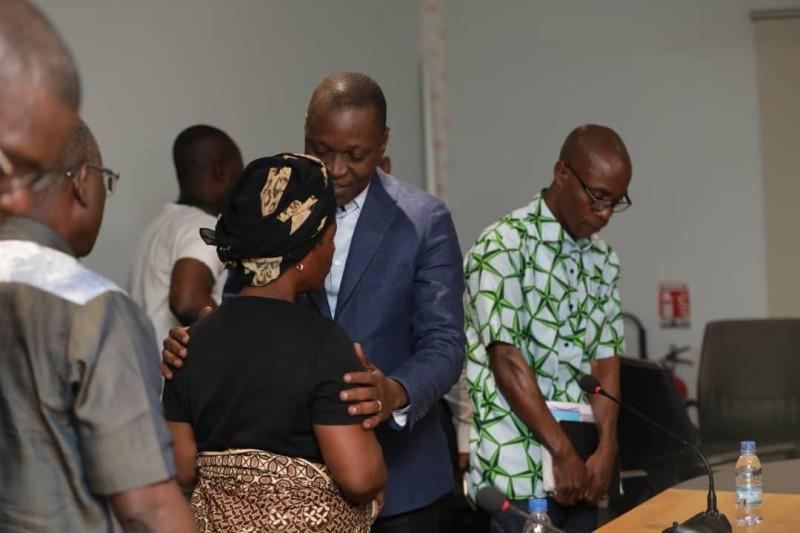 M. ANI Oulakolé Marius reçu quelques heures avant son départ par le Ministre des Transports, M. Amadou KONE (DR)