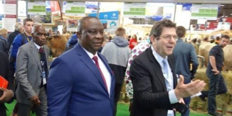Le ministre de l'Agriculture et du Développement rural, Kobénan Kouassi Adjoumani, au SIA 2020. (DR)