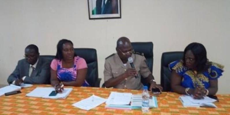 Les autorités d'Agboville sensibilisent la population au recensement général qui débutera en avril 2020. (DR)