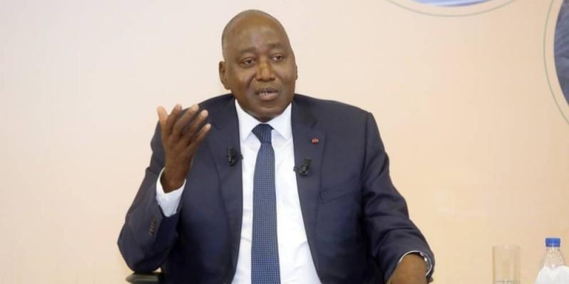 Amadou Gon Coulibaly, Premier ministre ivoirien, ministre du Budget et du Portefeuille de l'État. (Bosson Honoré)