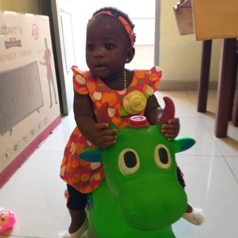 La petite est aujourd'hui âgée de huit mois . (DR)