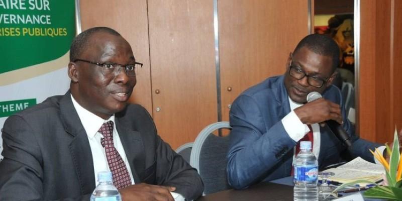 Le président de l'Ordre des experts comptables de Côte d'Ivoire, Koné Drissa (micro en main), s'est félicité de cette initiative de l'Etat. (DR)