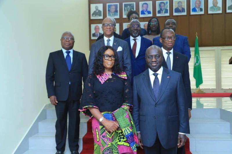 La ministre de la justice et procureure général du Ghana, Gloria AKUFFO reçu, ce vendredi, par ministre Marcel AMON-TANOH