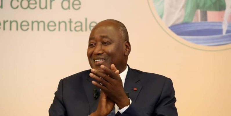 Amadou Gon Coulibaly, Premier ministre, ministre du Budget et du Portefeuille de l'État. (Primature)