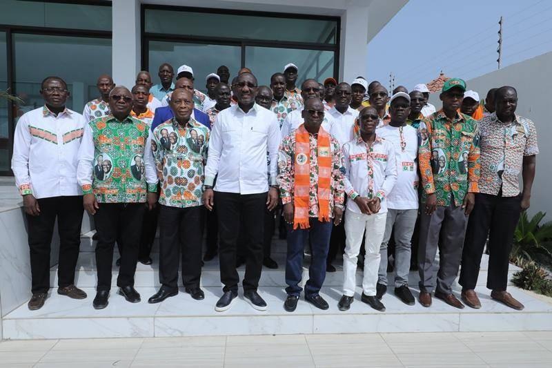 La cérémonie a eu lieu en présence de Kouyaté Abdoulaye, président national de l'Ue-Rhdp. (Dr)