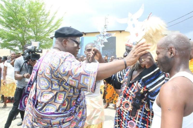 Le ministre Laurent Tchagba, père spirituel de la génération Blessouê d'Adjamé-Agban. (DR)
