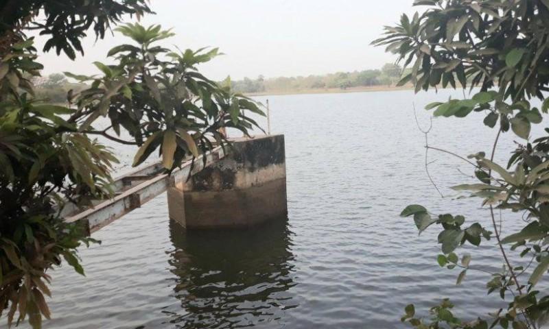 Vue du barrage Nanlo Bamba de Niakara. (DR)