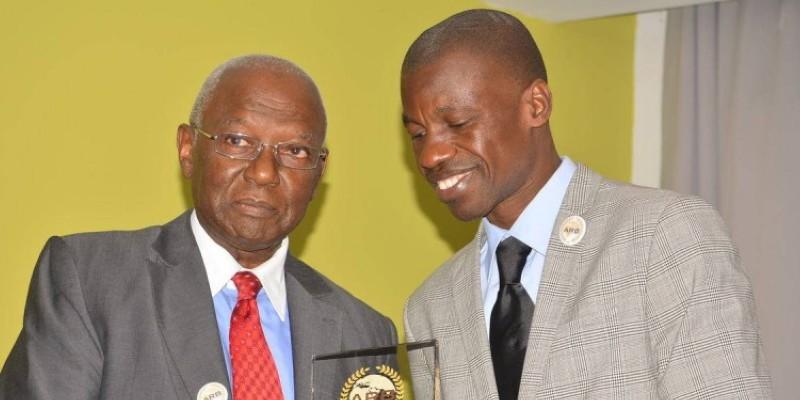 Barthélemy Kouamé, le commissaire général de l'événement, à droite. (DR)
