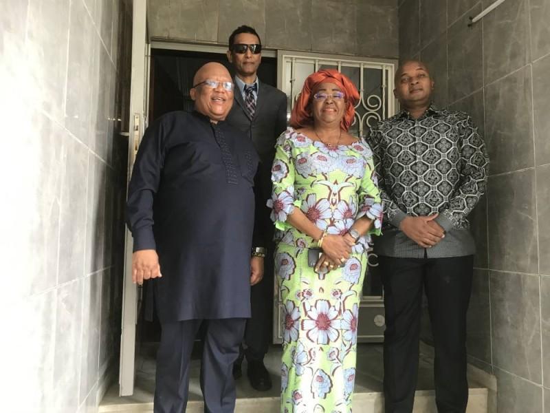 La Représentante de l'Ua, Joséphine Charlotte Mayuma Kala et N'Dumiso Ntshinga (à sa droite) conduisant la délégation sud-africaine, ont échangé sur la situation socio-politique en Côte d'Ivoire. (DR)