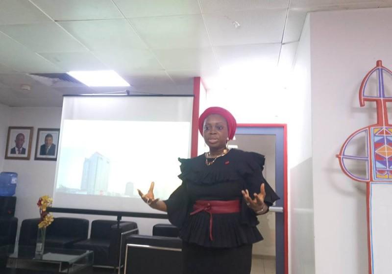Mme Sarata Koné Thiam, directrice générale de UBA-Côte d'Ivoire (Ph:Salif D. CHEICKNA)