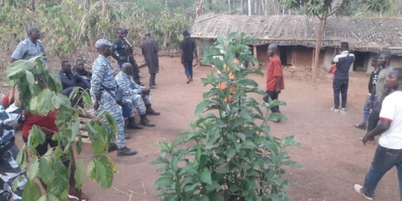 Un détachement des forces de l'ordre à Kabakouma pour apaiser la population. (DR)