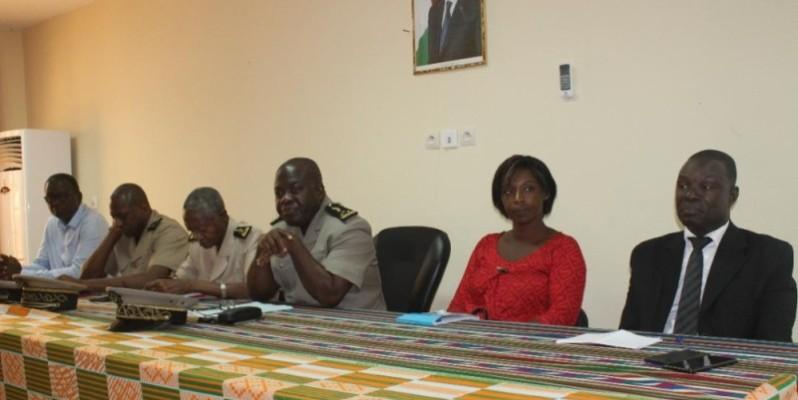 Le préfet de région Andjou Koua a procédé au lancement du projet. (Dr)