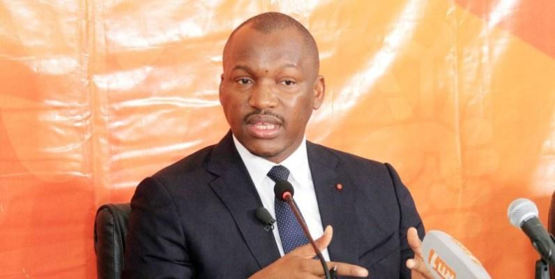 Le ministre de la Promotion de la jeunesse et de l'Emploi des jeunes, Mamadou Touré. (Sébastien Kouassi)