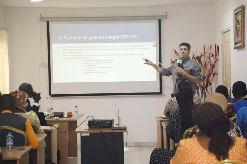 Mathieu Dufour d'Ipso explique aux entrepreneurs l'avantage de se doter d'un ERP/ PGI (DR)