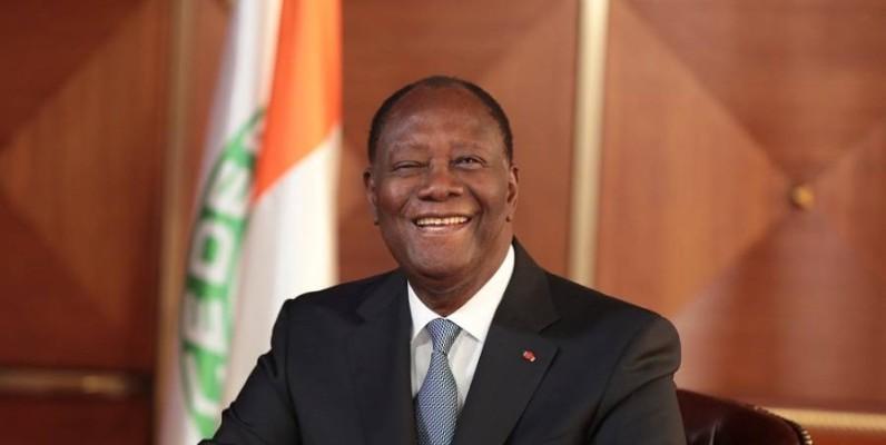 Alassane Ouattara, le Chef de l'État ivoirien. (DR)