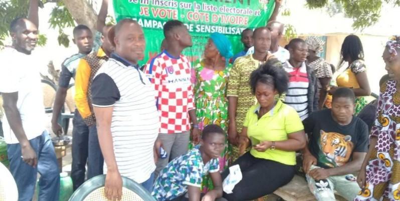 Le Milev-Ci en campagne pour inviter la population ivoirienne à s'enrôler. (Comité d'organisation)