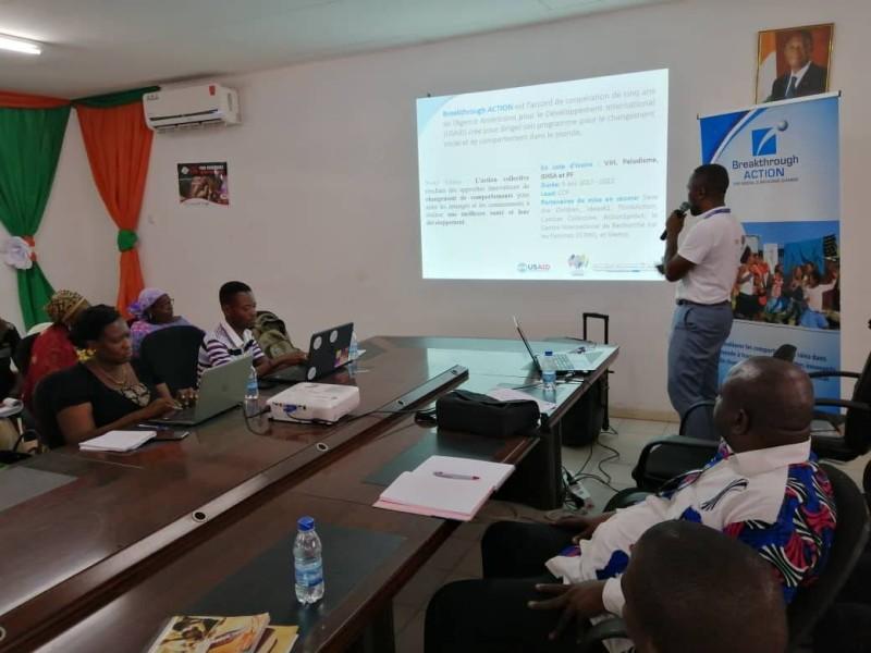 Le représentant de Breakthrough Action présentant les grandes lignes de la campagne qui prendra fin le 20 mai prochain. (DR)