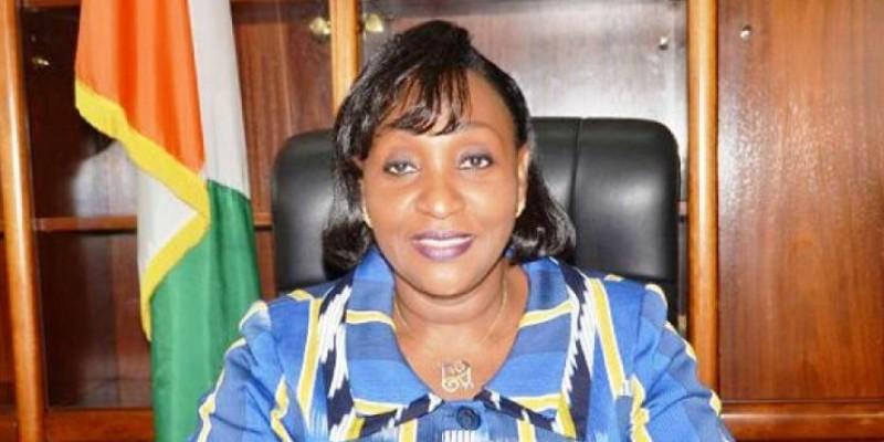 Raymonde Goudou-Coffie,  ministre de la Modernisation de l'administration et de l'Innovation du service public. (Dr)