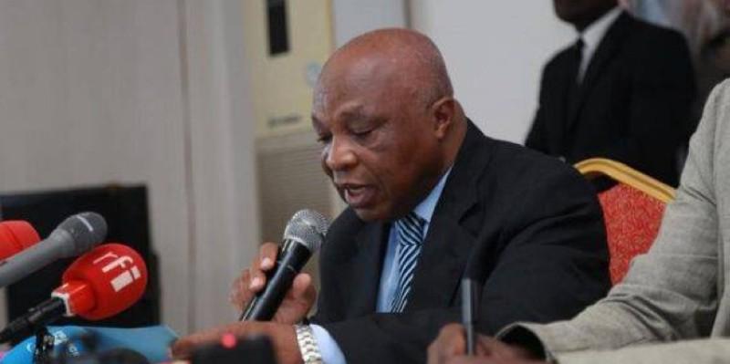 Assoa Adou était face à la presse ce mercredi. (Dr)