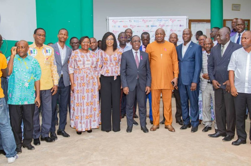 Leah Muriel Guigui, présidente d'Echo Médias a eu le soutien du ministre de la Santé et de l'Hygiène publique, Dr Eugène Aka Aouélé et des partenaires engagés dans la lutte contre la maladie. (DR)
