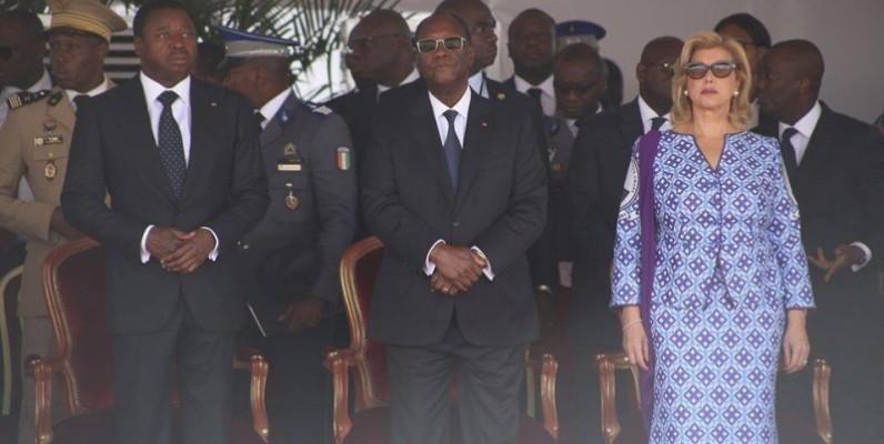 Le Président togolais Faure Gnassingbé était aux côtés du couple présidentiel. (DR)
