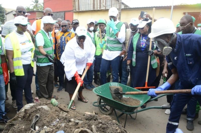 Anne Ouloto et Ahmadou Bakayoko ont conduit l'opération de salubrité publique. (DR)