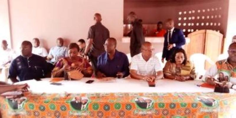 Jeannot Ahoussou-Kouadio a appelé ses ''parents'' à soutenir le candidat du Rhdp, Amadou Gon Coulibaly. (DR)