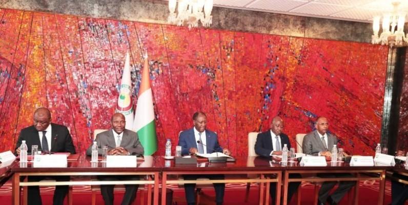 Le Chef de l'État, Alassane Ouattara, a présidé la réunion du conseil national de sécurité. (DR)