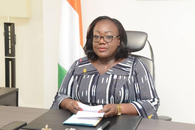 La déclaration du gouvernement a été lue par la ministre Anne Desiree Ouloto. (DR)