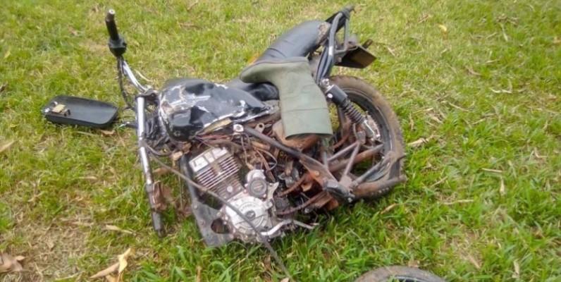 Une vue de la moto du paysan. (DR)