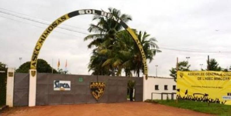 Sol Béni, le complexe sportif de l'Asec a fermé ses portes à toutes les activités. (DR)