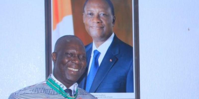 Maurice Kouakou Bandaman exprime sa reconnaissance au Chef de l'Etat. (Dr)