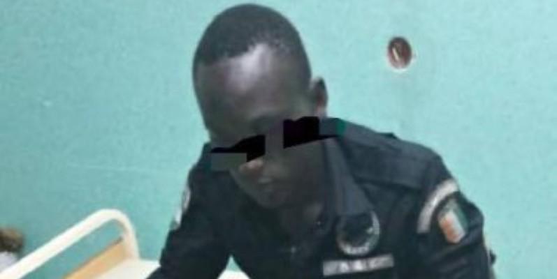 L'agent de Police percuté par le véhicule