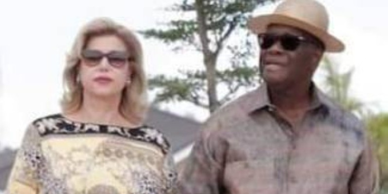 Le couple présidentiel souhaite une très bonne santé à tous les Ivoiriens. (Sercom Première dame)