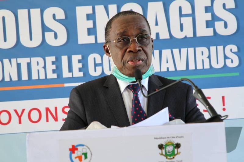 Le ministre de la Santé et de l'Hygiène publique, Eugène Aka Aouélé. (Joséphine Kouadio)
