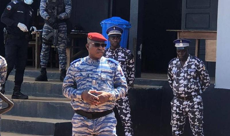 Le Général de Division ALEXANDRE Apalo Touré, Commandant Supérieur de la Gendarmerie Nationale à Tabou (DR)