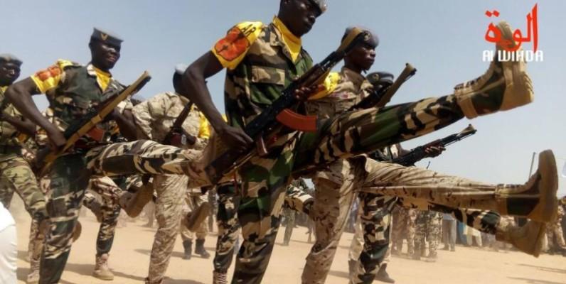 Des militaires tchadiens à l'entraînement. (DR)