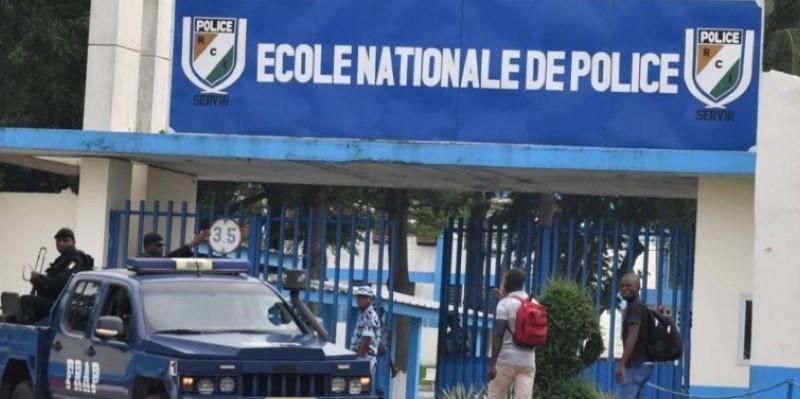 L'entrée principale de l'Ecole nationale de police d'Abidjan. (Dr)