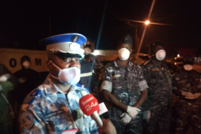 La Gendarmerie d'Aboisso tient à jouer sa partition dans la lutte contre la propagation du covid-19 en veillant au respect du couvre-feu.