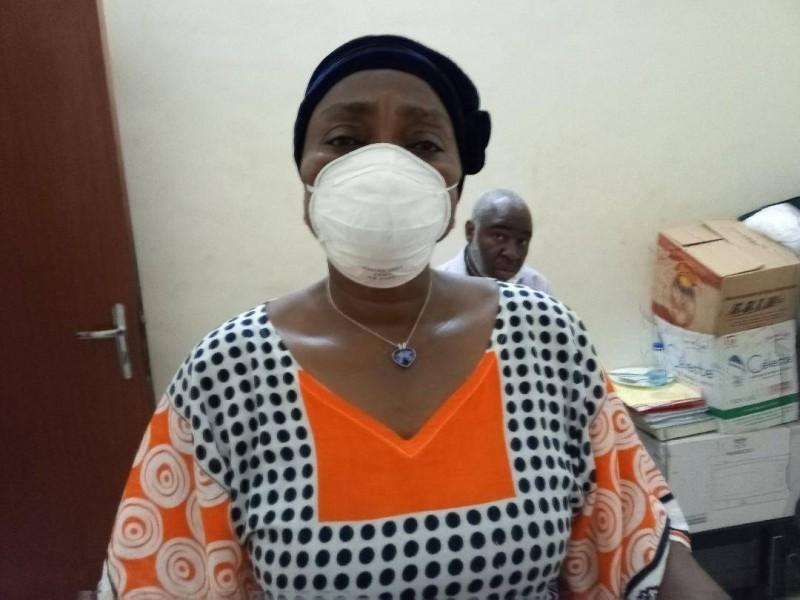 La Pca du marché Gouro, Goley Lou Irié Yvonne, estime que cette situation de crise n'est pas aisée pour ces femmes. (Photo Mad)