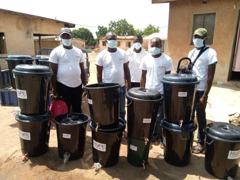 Les bénévoles de Hope Denguélé ont mené quatre jours de sensibilisation dans le région. (DR)