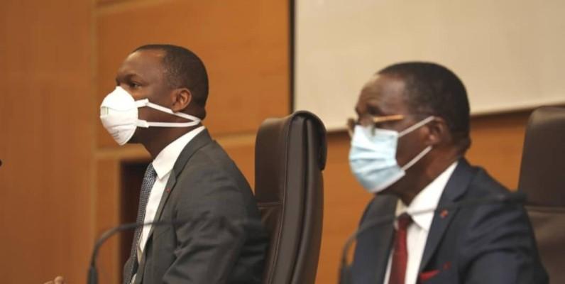 Mamadou Touré et Aka Aouélé ont engagé les bénévoles à lutter efficacement contre les fausses informations qui circulent sur les réseaux sociaux.(DR)