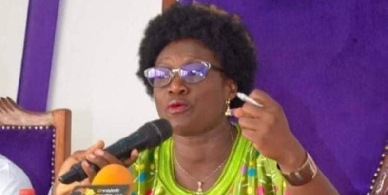 Pulchérie Gbalet, présidente de la plateforme d'ONG « ALTERNATIVE CITOYENNE IVOIRIENNE (ACI) »